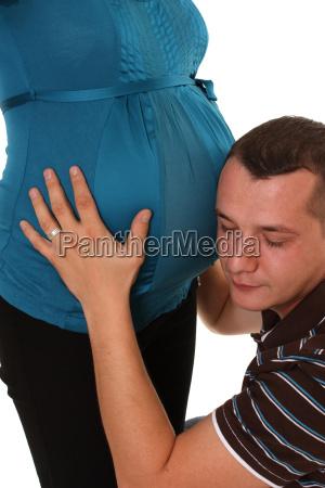 babybauch beruehren