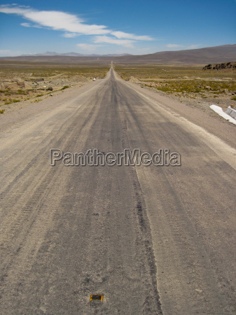 road in andes peru