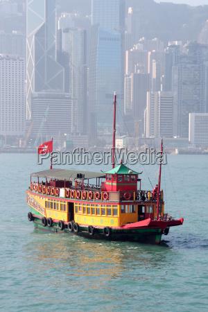 vintage tour boat in hong kong