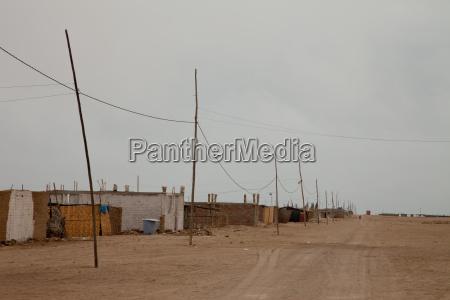 village in desert peru