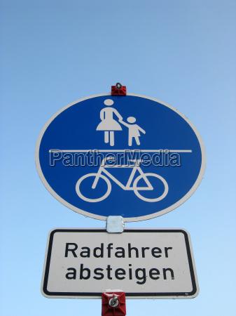 fussweg fahrradweg