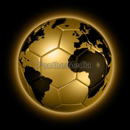 gold fussball fussball ball weltkugel