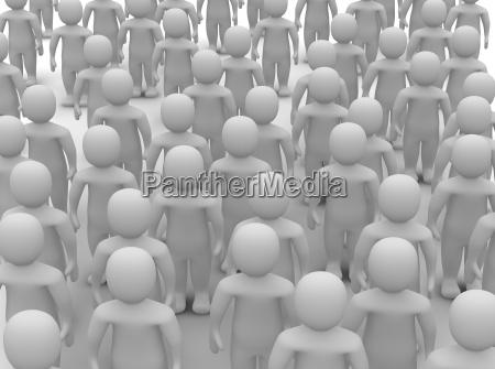 crowd of uniform people