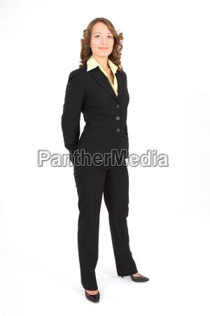 businesswoman fixed look