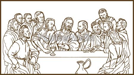 gott christus apostel essen gericht mahlzeit