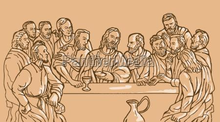 letzte abendmahl jesus christus erloeser juenger