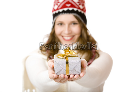 young happy woman with cap and