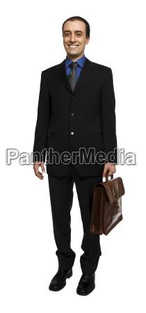 standing confident businessman