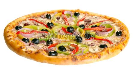 pizza auf einem weissen hintergrund