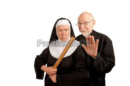 funny priest and nun