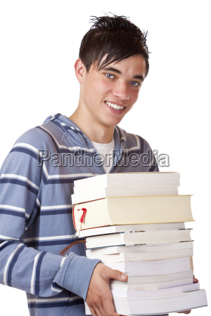portrait of young and handsome student