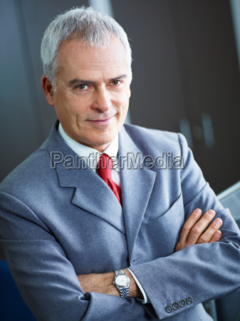 mature businessman in office