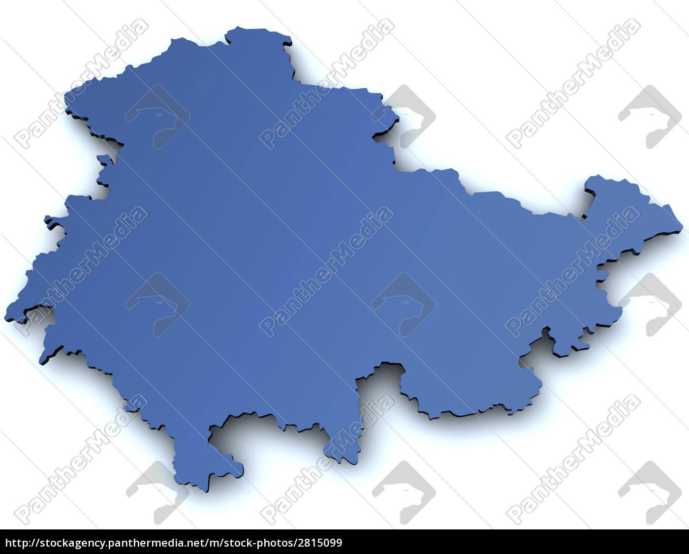 Karte Thüringen.Lizenzfreies Bild 2815099 Karte Von Thüringen