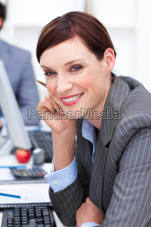 close up of an attractive businesswoman
