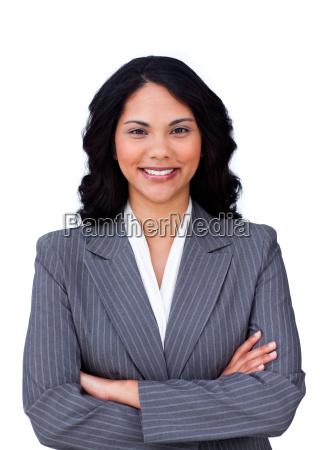 portrait of a smiling businesswoman with