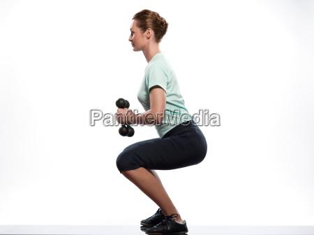 frau beine training kauern gebaeude koerper