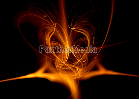 fiery abstract