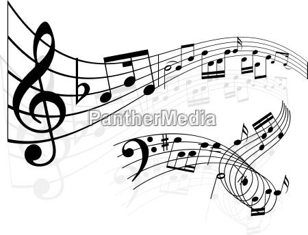 musik noten hintergrund