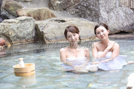 japanese women in a open air