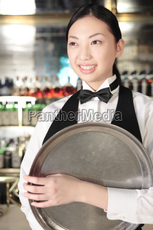 portrait of japanese waitress
