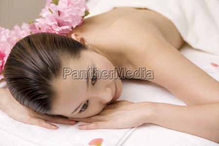 woman receiving a beauty treatment
