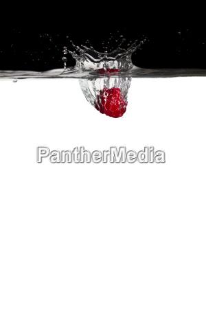 raspberry in water