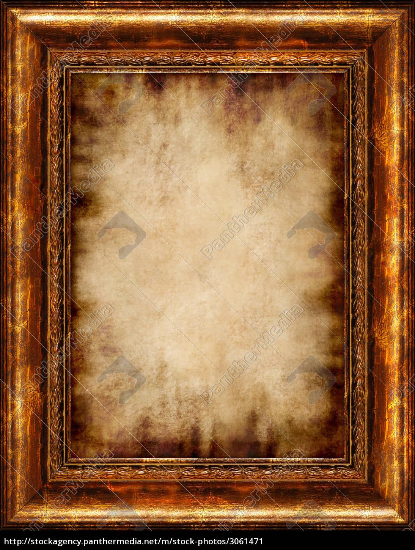 antike bilderrahmen isoliert - lizenzfreies bild - #3061471
