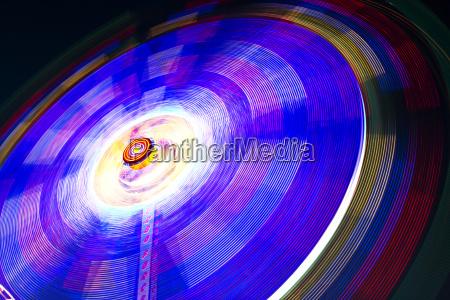 schnelles karusell blau