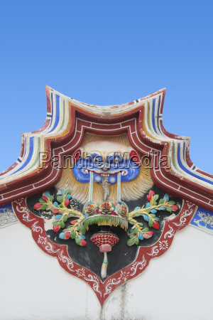 traditional chinese temple wall