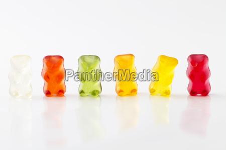 farbige gummibaerenreihe