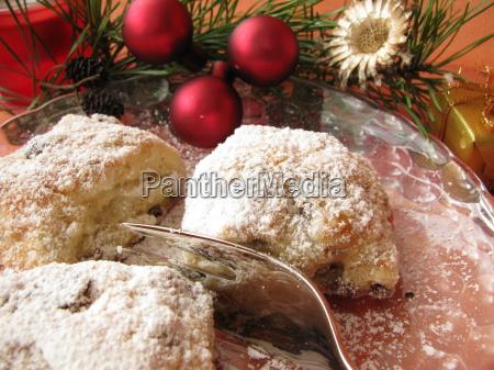 weihnachtliches stollenkonfekt