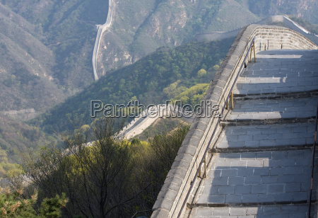 culture mountains asia wall beijing border