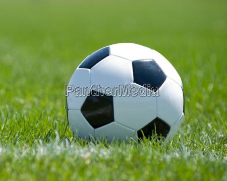football in grass field