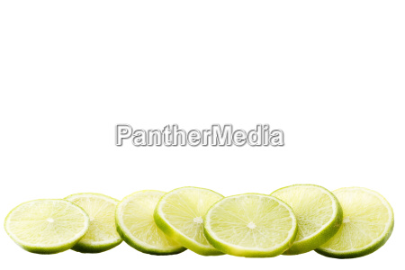eine reihe limonenscheiben