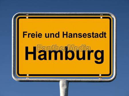 ortstafel von hamburg