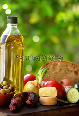 mediterranic food ingredients