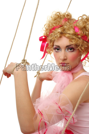 doll on ropes