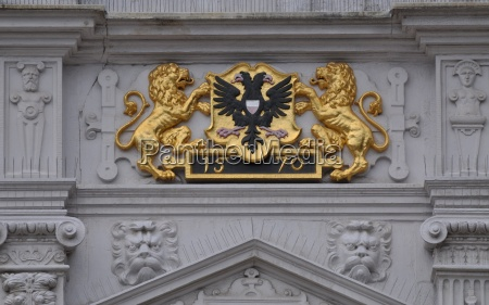 coat of arms luebeck town hall