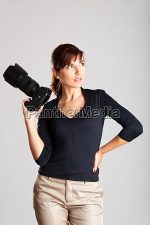 weiblicher fotograf
