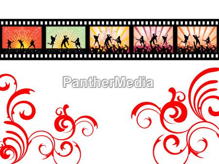 dancing film stripe