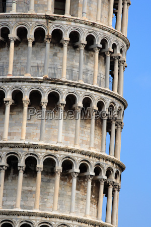 section of the leaning tower