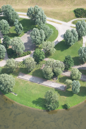 aerial view of recreational park
