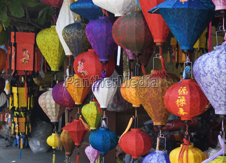 lampion stand in hoi an vietnam