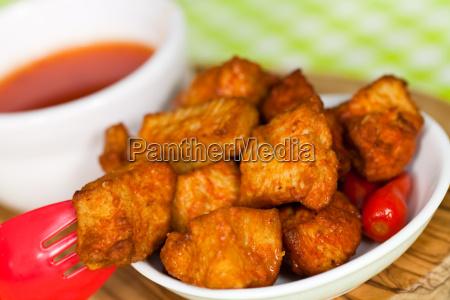 chicken haehnchen mit chili sosse