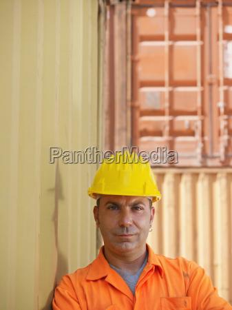 industrial worker in warehouse