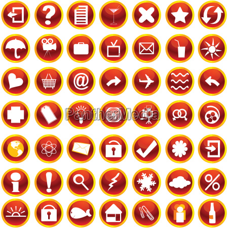 orange symbole fuer web