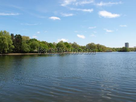 park london suesswasser teich tuempel weiher