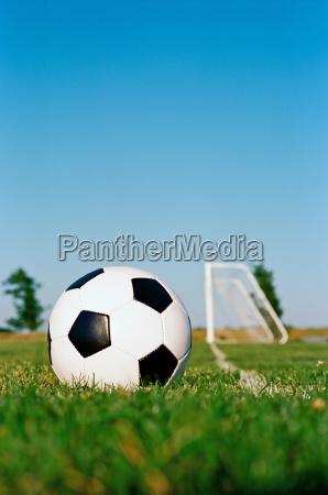 soccer ball in corner area on