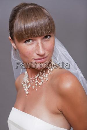 portrait of smiling bride