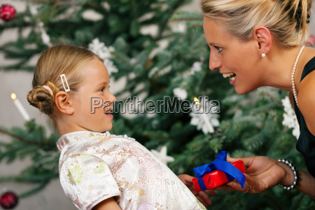 christmas child is presented